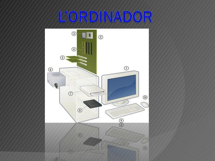 L'ordinador.                                   12L'ordinador consta de les següents parts: El monitor. 1         Perifèri...