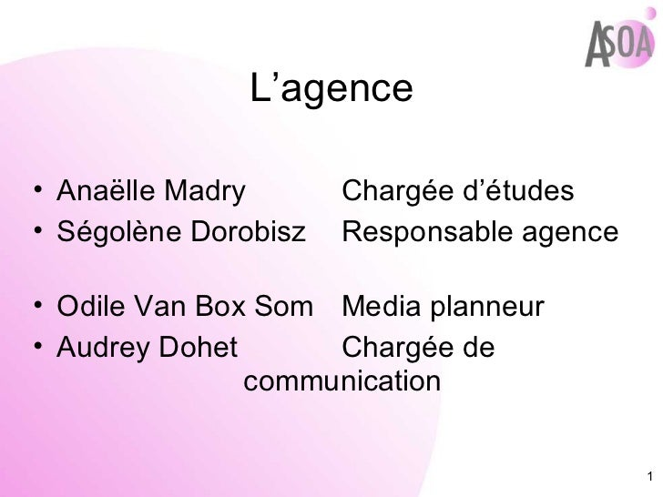 L'agence <ul><li>Anaëlle Madry   Chargée d'études </li></ul><ul><li>Ségolène Dorobisz   Responsable agence </li></ul><ul><...