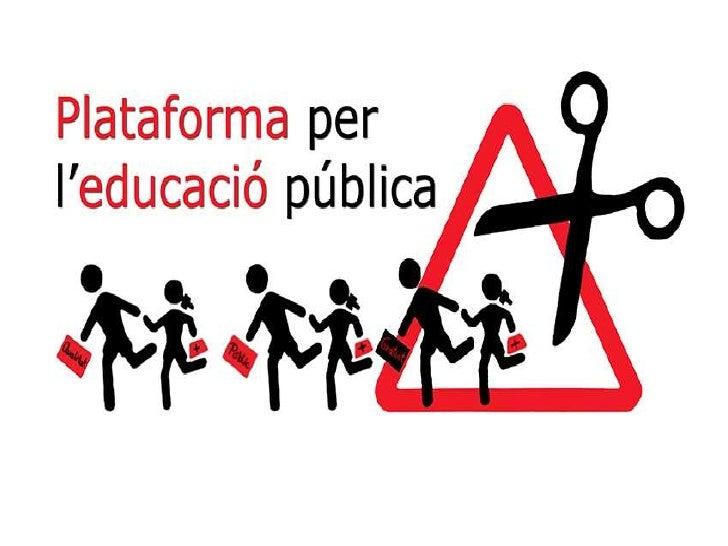 Presentació AMPA Plataforma educació pública