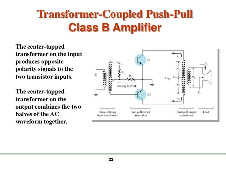 how to build a push pull amplifier