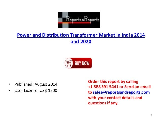 Power and distribution transformer market in india 2014 and 2020