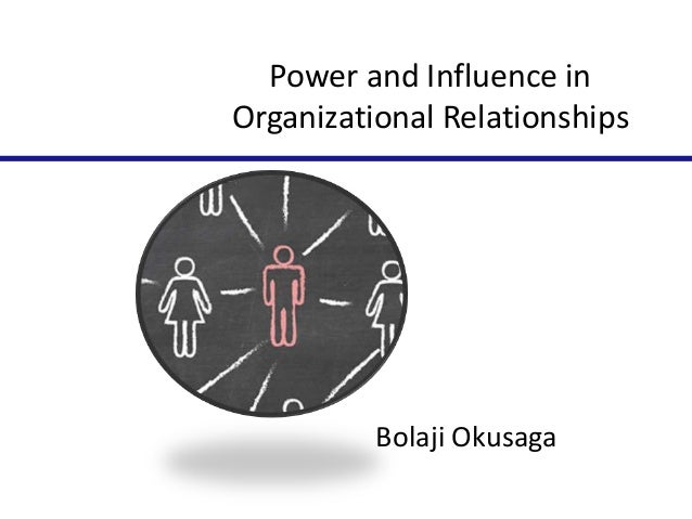 Power and influence in organizational relationships