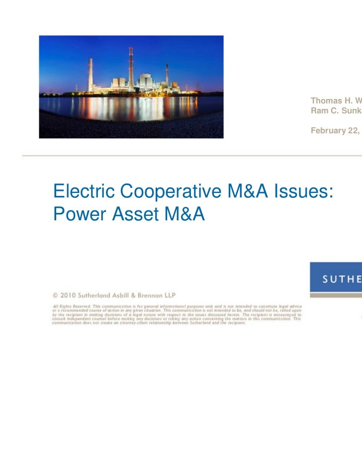 Thomas H. Warren                             Ram C. Sunkara                             February 22, 2011Electric Cooperat...