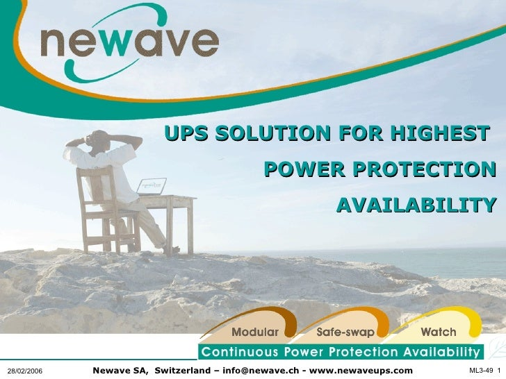 UPS SOLUTION FOR HIGHEST                                            POWER PROTECTION                                      ...