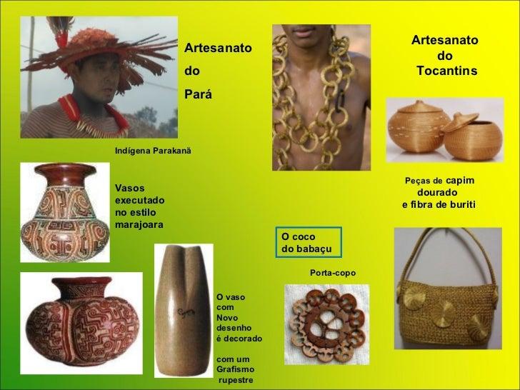 Artesanato Do Rio De Janeiro ~ POWER POINT Brasil Artesanato Regi u00e3o Norte