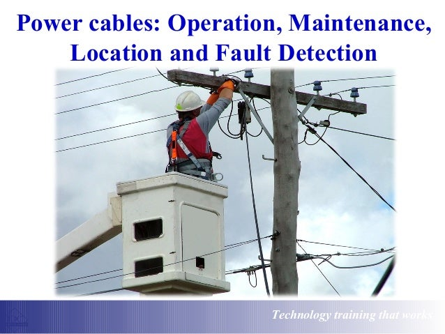 Cable Fault Locator On Line : Power cables operation maintenance location and fault