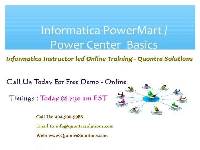Informatica powermart power center basics 211 informatica corporation