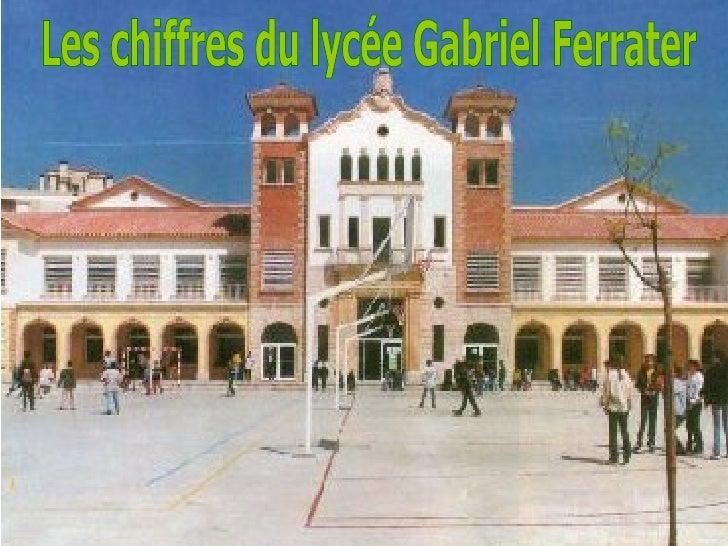 Les chiffres du lycée Gabriel Ferrater