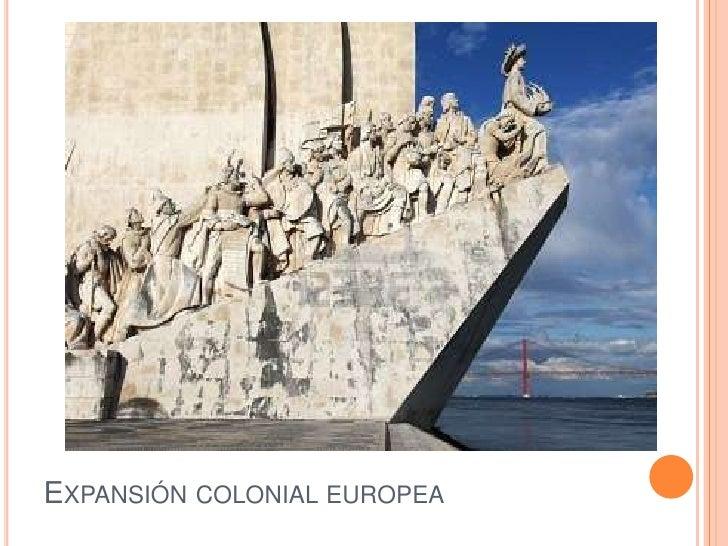 Expansión colonial europea<br />