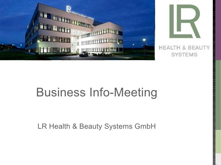 Business Info-Meeting LR Health & Beauty Systems GmbH