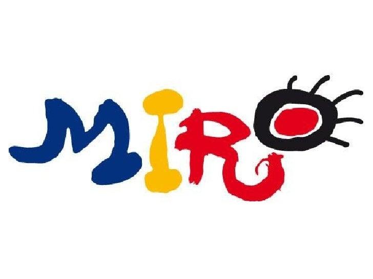 El arte de Joan Miró visto con              ojos de niño             Mirad esta obra y pensad qué veis en ella●Refiriéndos...
