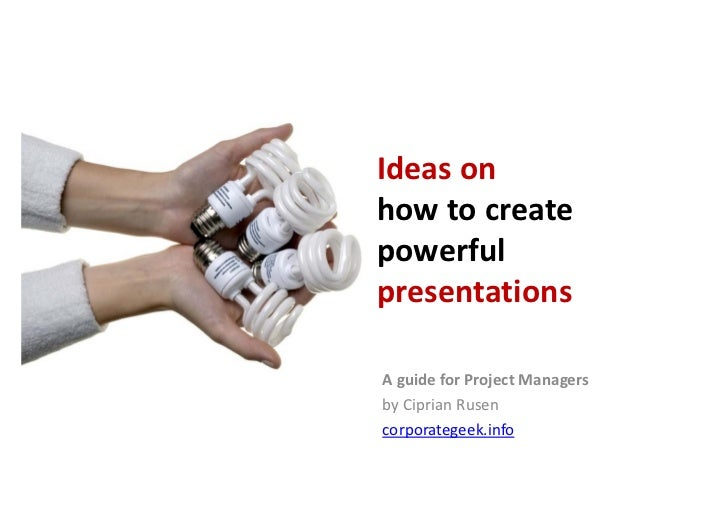 How to presentations