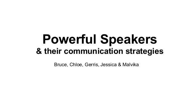 Powerful speakers & public speaking techniques