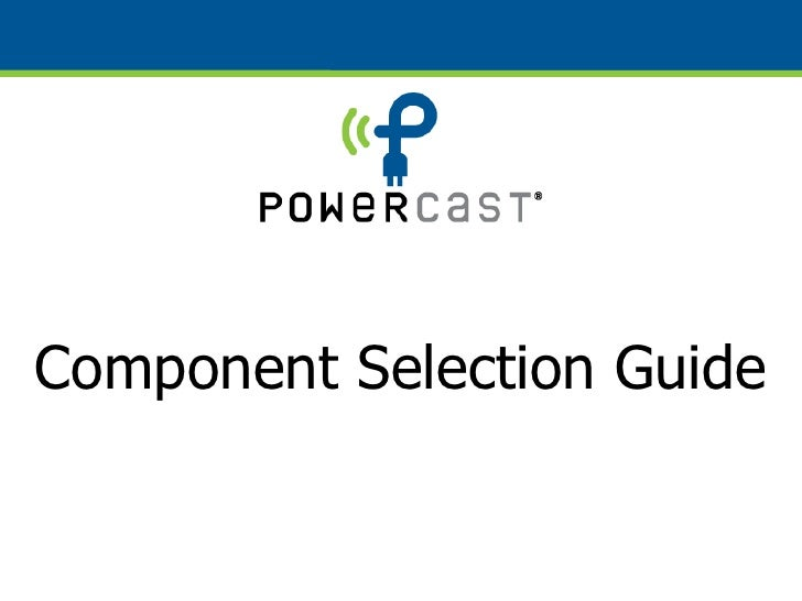 Powerharvester Selection Guide