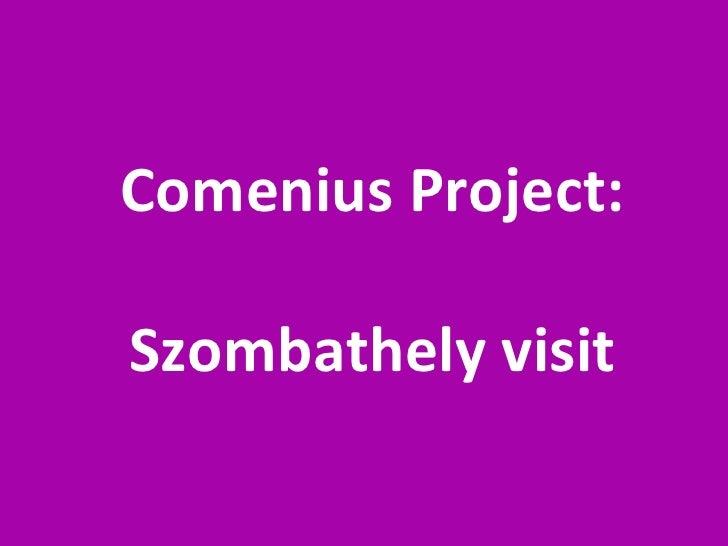 Comenius Project: Szombathely visit
