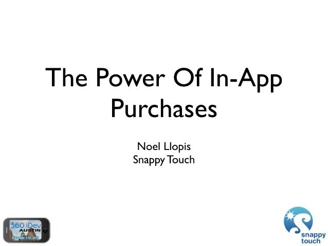The Power Of In-App Purchases