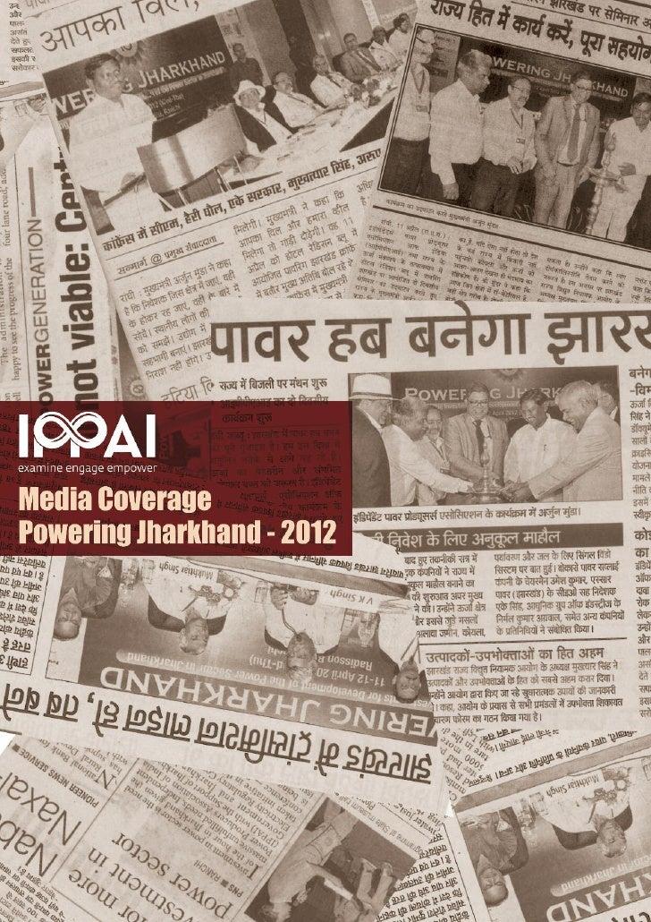 Powering jharkhand 2012 media report
