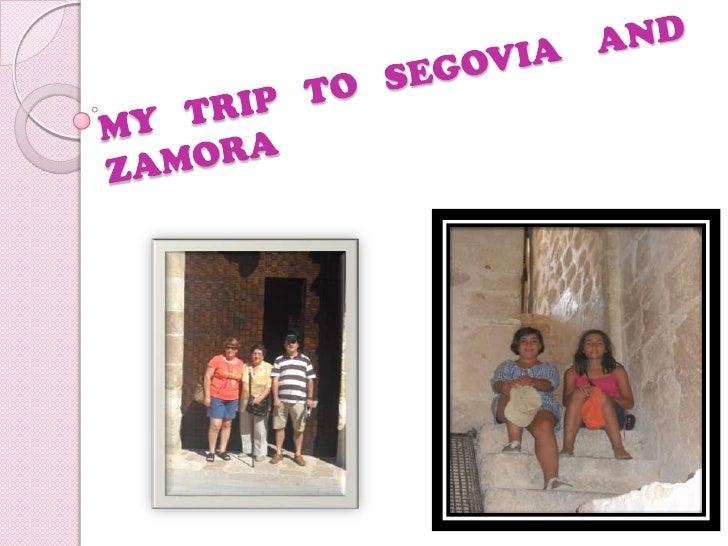 My trip to Segovia
