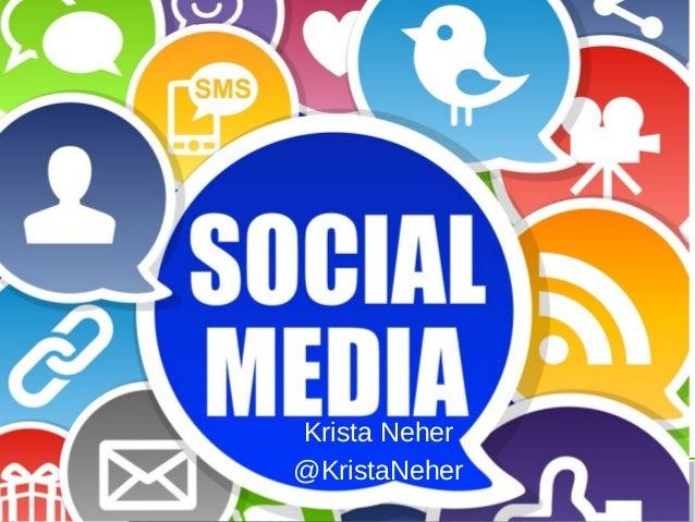 Krista Neher @KristaNeher  Follow @NACENational use hashtag #NACEEXP13