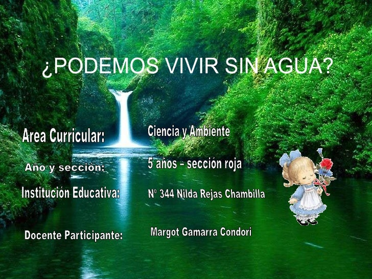 RESUMEN DE LA UNIDADLos niños deberán de conocer la importancia del agua,   estados del agua, practicar el cuidado del agu...