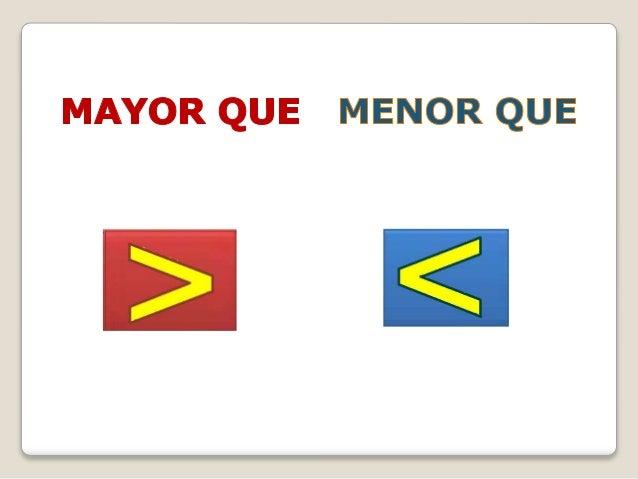 MAYOR QUE > ES MAYOR QUE