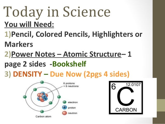 Power Notes   Atomic Structure-Day 1