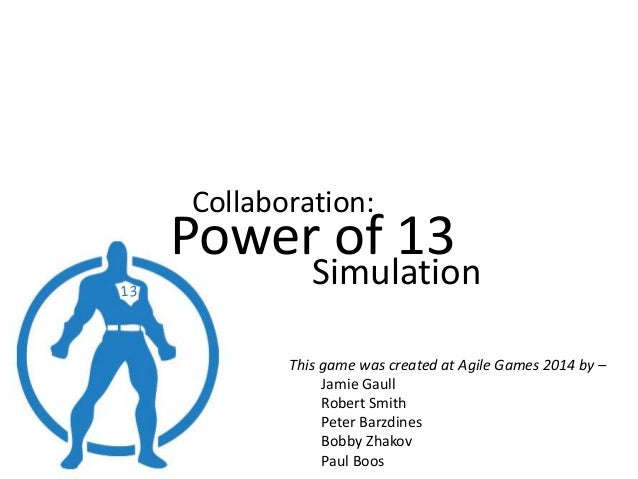Power of 13   a game to illustrate the power of collaboration