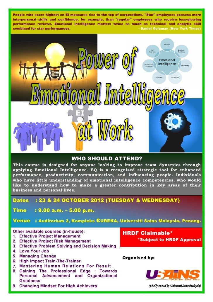 Power of Emotional Intelligence at Work Course Oct 2012