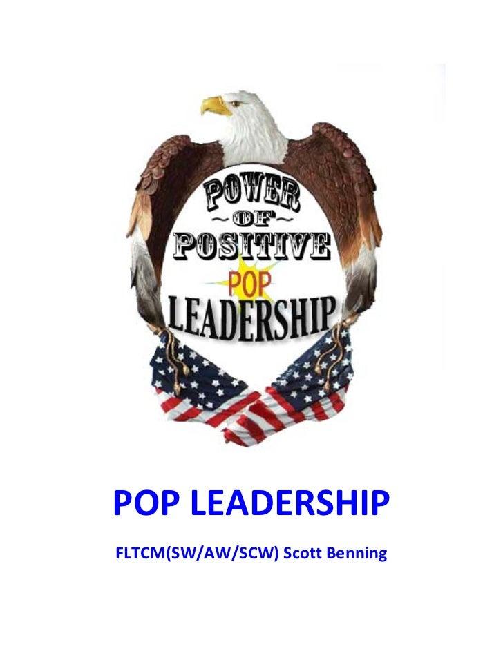 Power of positive leadership handbook