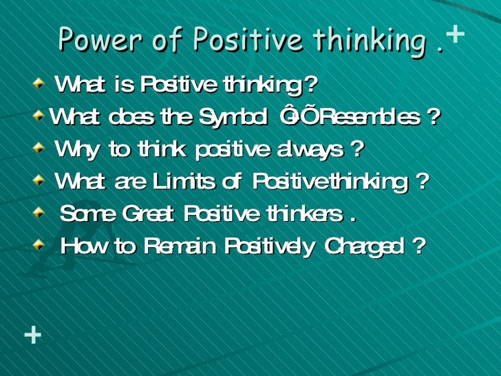 power of thinking