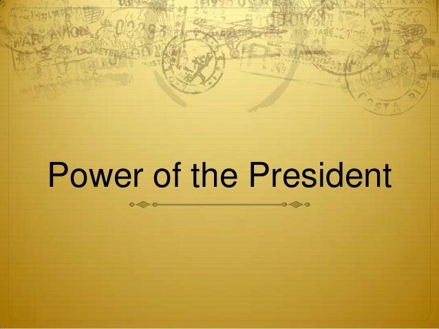 Power of the President