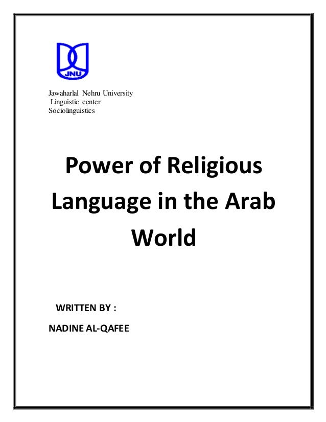 Power of religious language in the arab