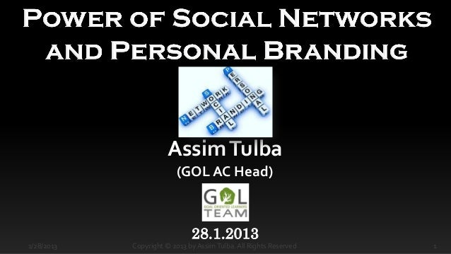 Power of social networks and personal branding