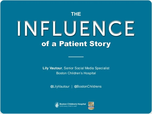 The power of the story using patient testimonials and stories to dri