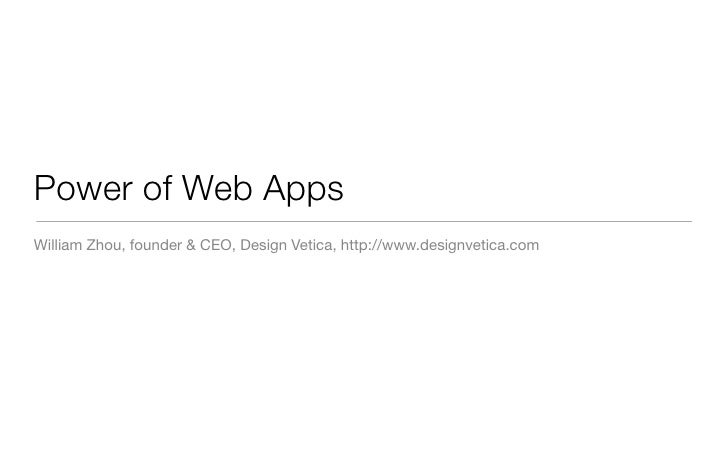 Power of Web Apps