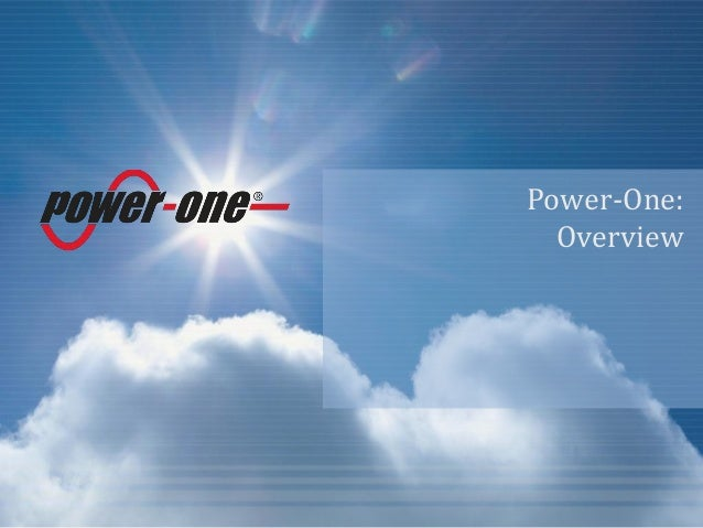 Power-One:Overview