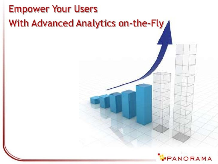 Empower Your Users with Advanced Analytics On-the-Fly
