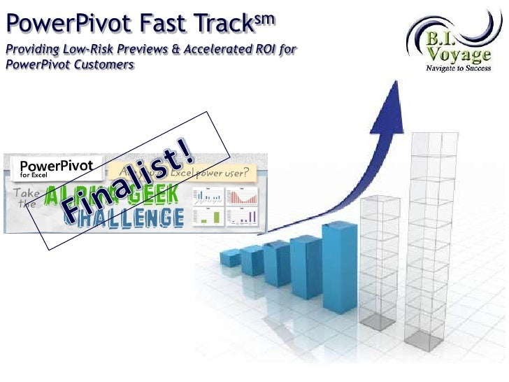 PowerPivot Fast Tracksm<br />Providing Low-Risk Previews & Accelerated ROI for PowerPivot Customers<br />Finalist!<br />