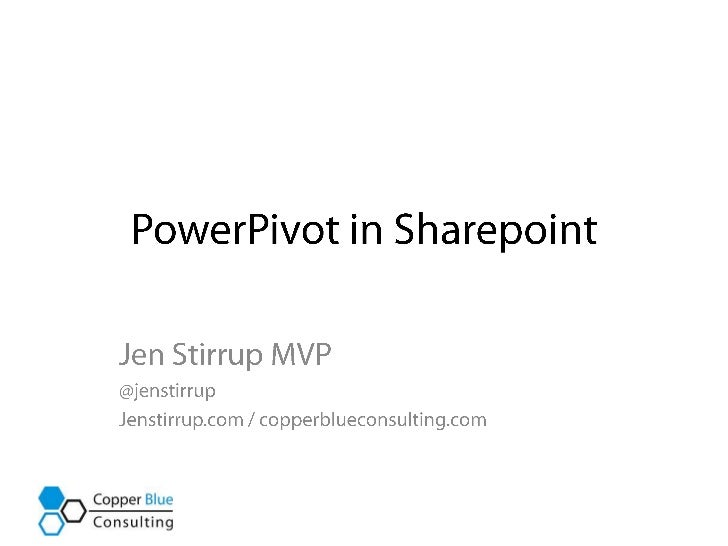 Power pivot in Sharepoint Introduction
