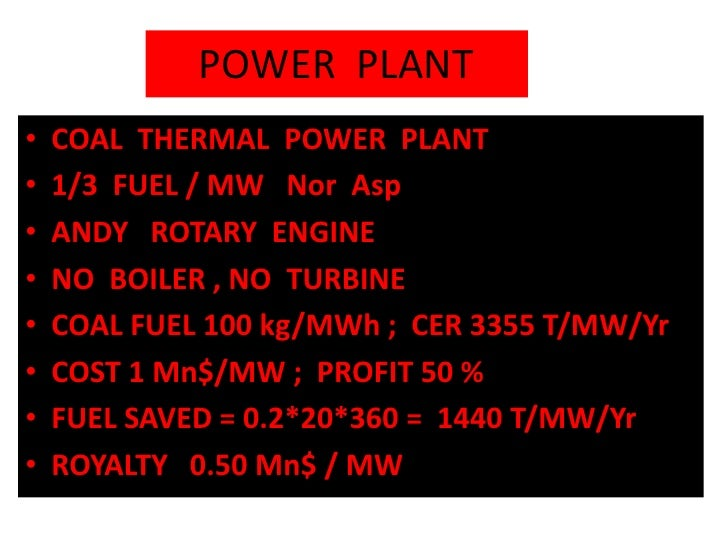POWER  PLANT<br /><ul><li>  COAL  THERMAL  POWER  PLANT