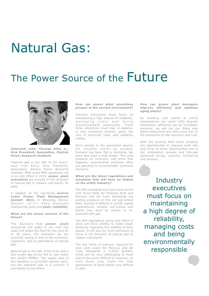 Natural Gas:The Power Source of the                                                             Future                    ...