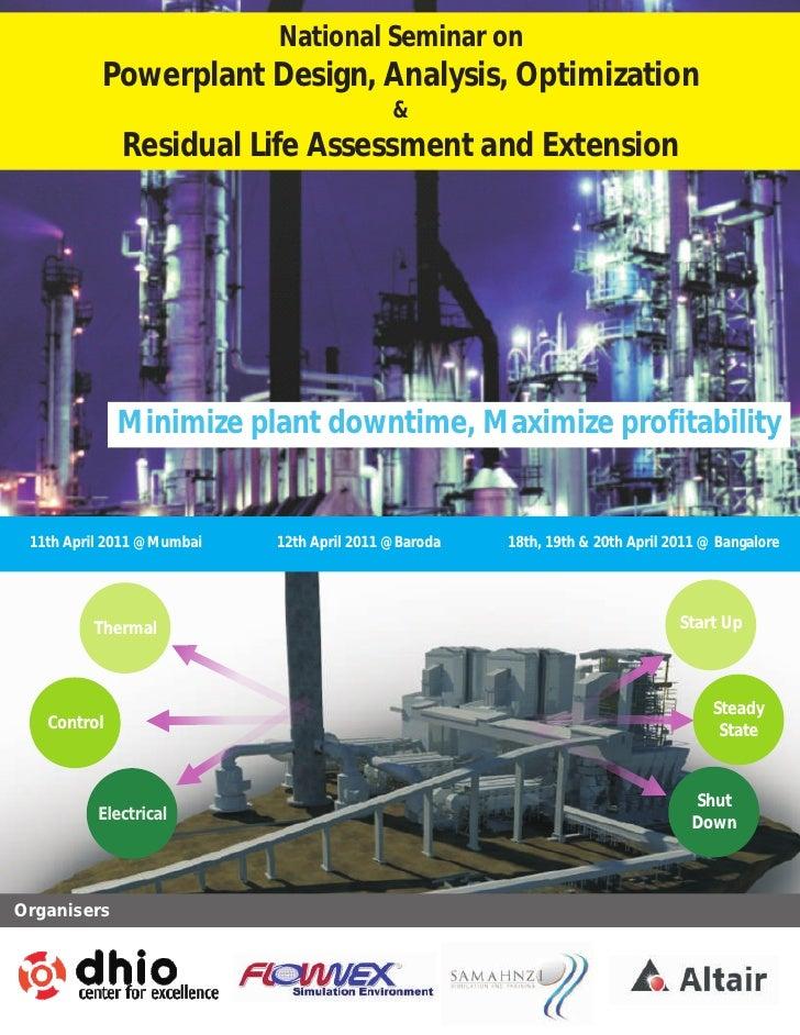 National Seminar on          Powerplant Design, Analysis, Optimization                                           &        ...