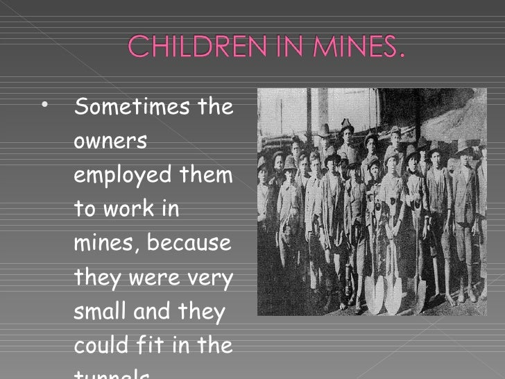 Child labour at the Industrial Revolution