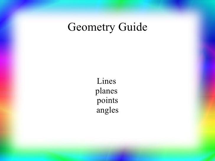 Planar Geometry Terms
