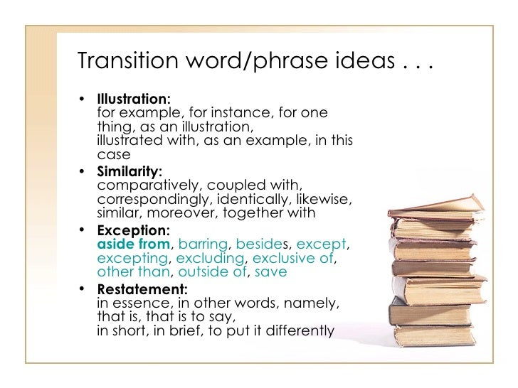Transition Words List List of Transition Words to