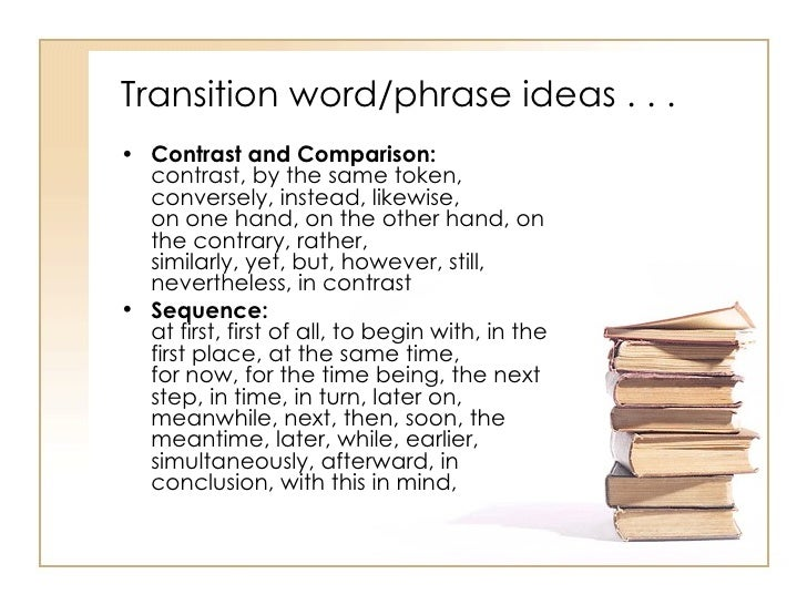compare contrast essay transitional words