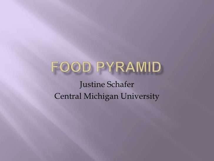 Food Pyramid<br />Justine Schafer<br />Central Michigan University<br />