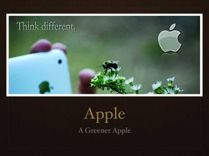 Apple A Greener Apple