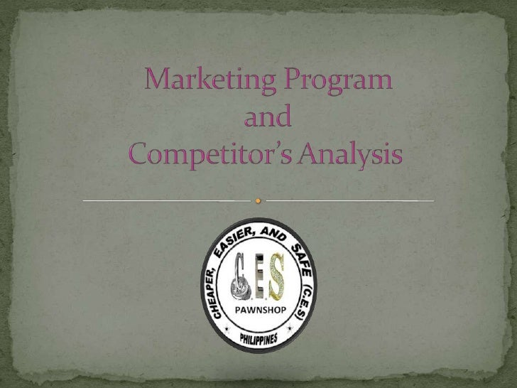 Marketing Program and Competitor's Analysis<br />