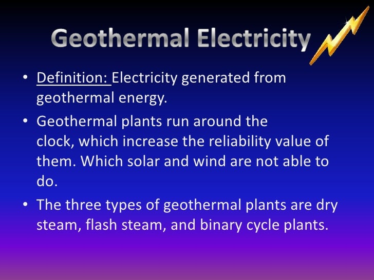 Geothermal Energy Definition Completed powerpoint (dont delete)